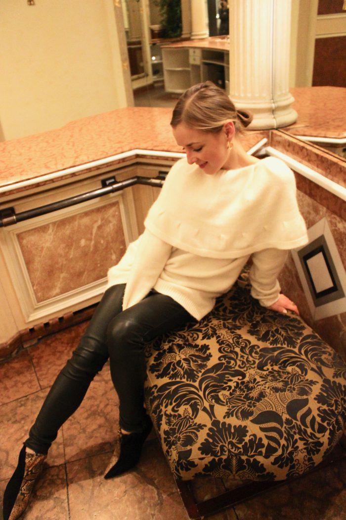 beige sweater cashmere