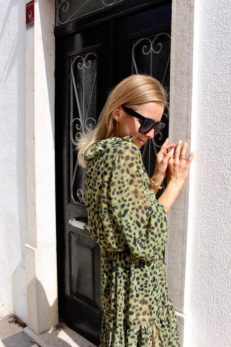 leopard summer dress fashion blogger H&M trend