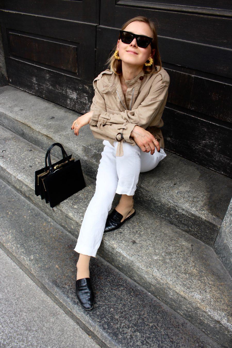 zara jacket linen beige