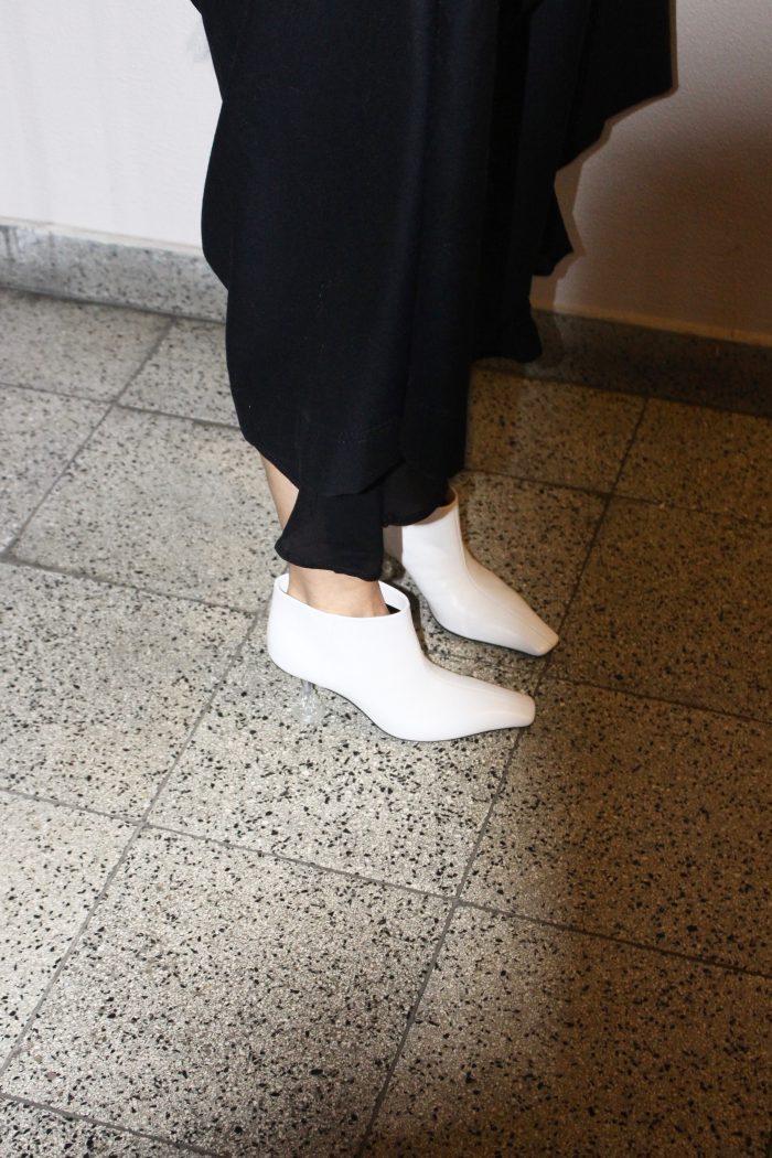black dress massimo dutti street style 2018