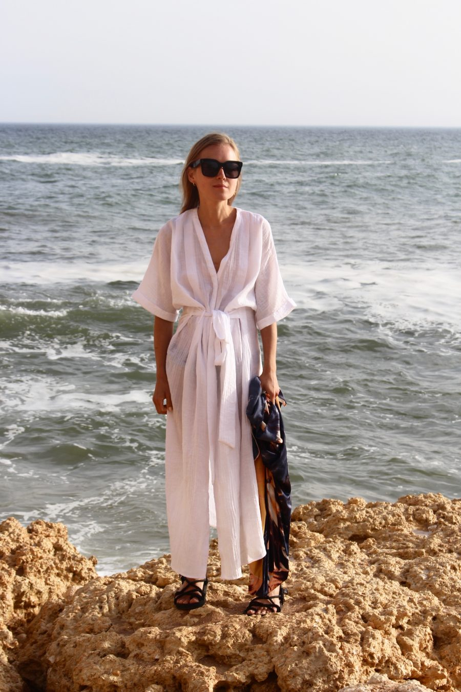 the white tunic kaftan dress h&M Trend summer 2018