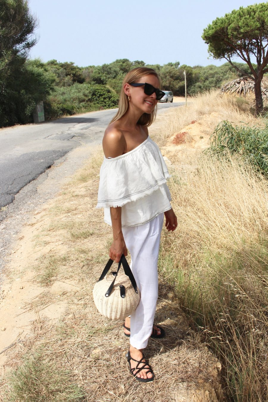 off shoulder white top Zara