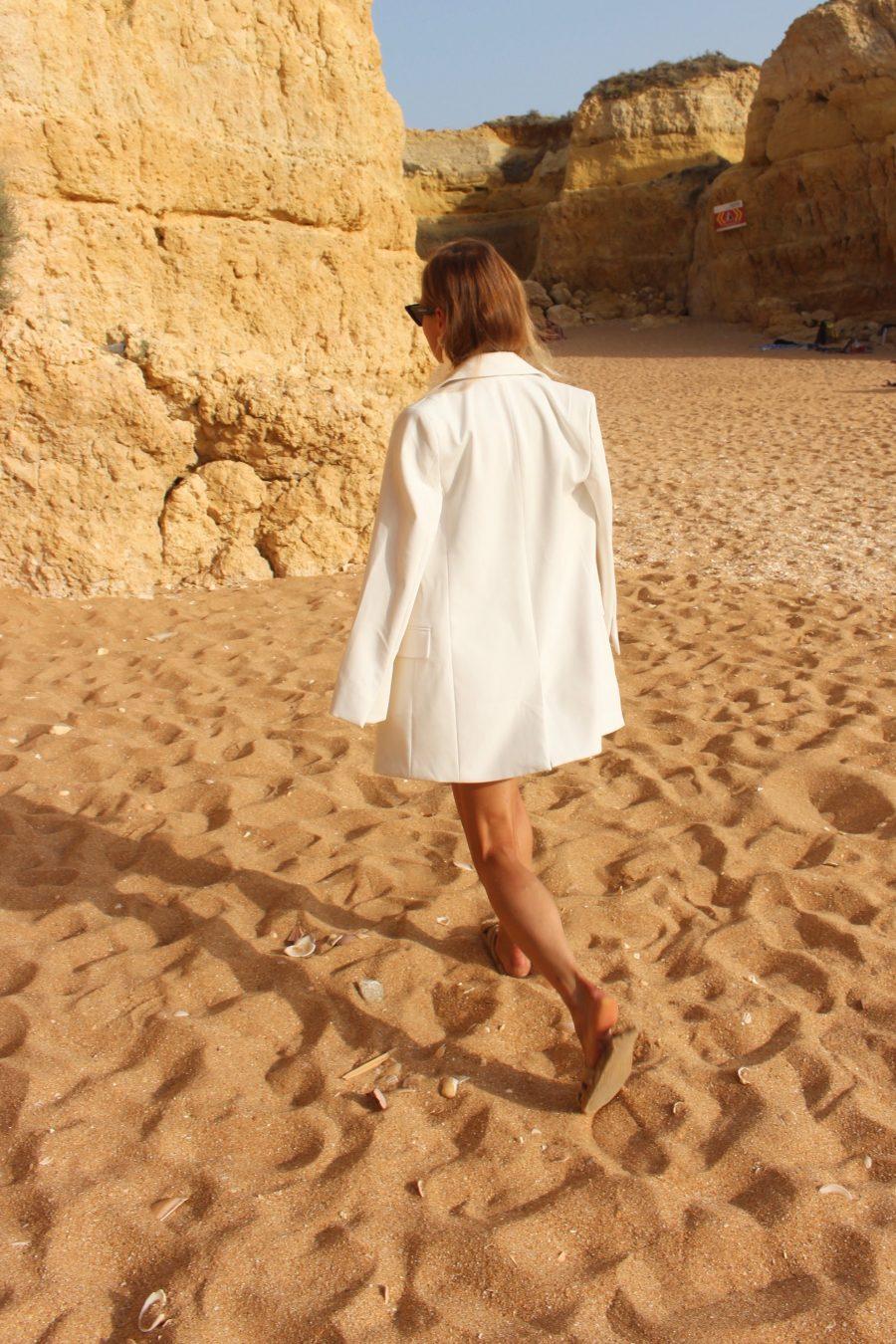 Blazer H&M Trend white oversized