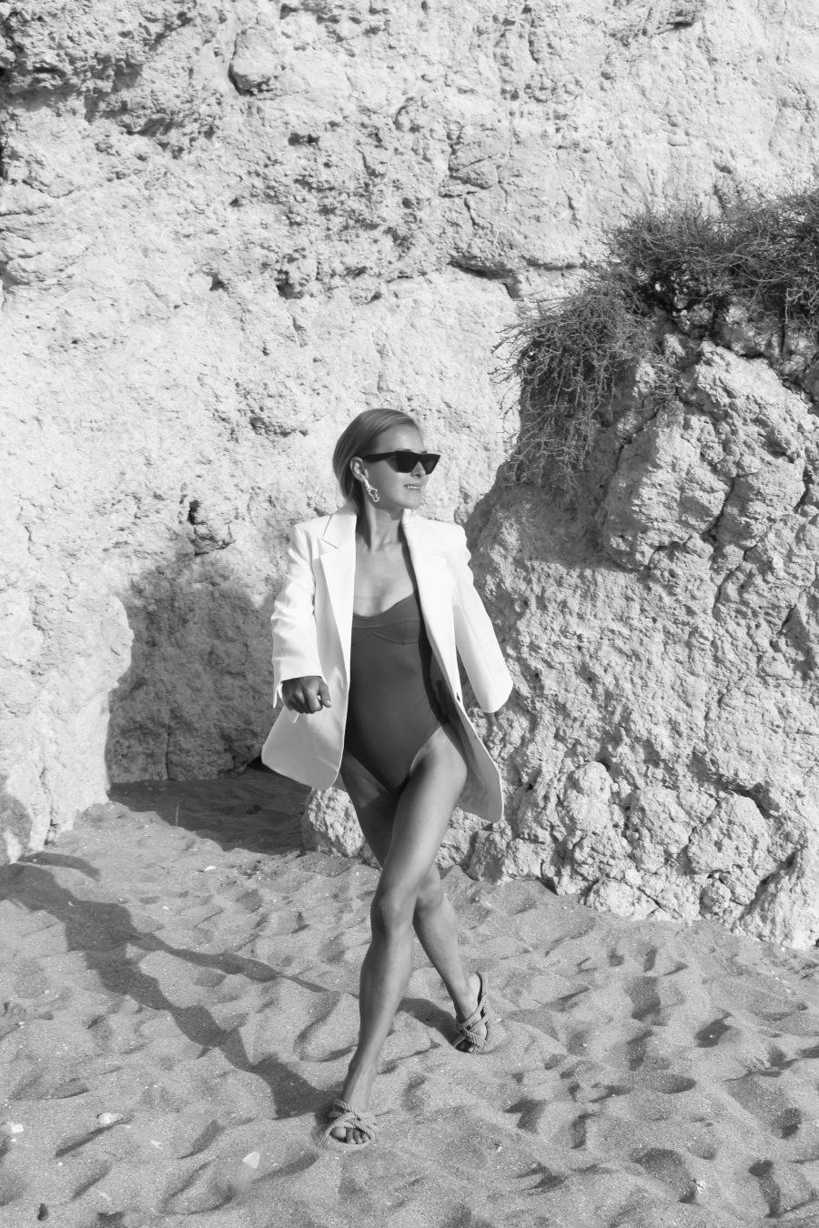 Oversized Blazer white H&M trend