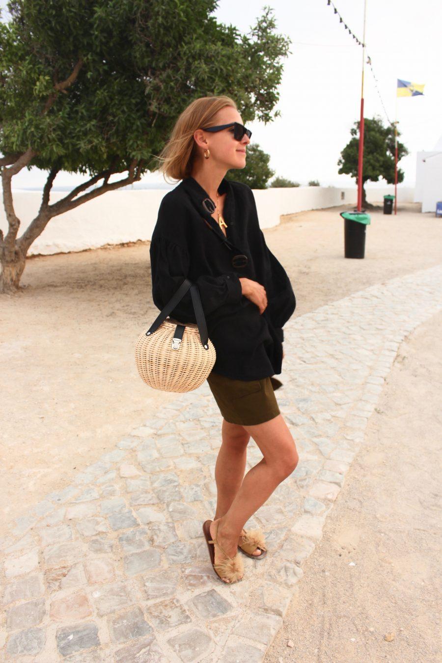 Zara Linen Bluse black