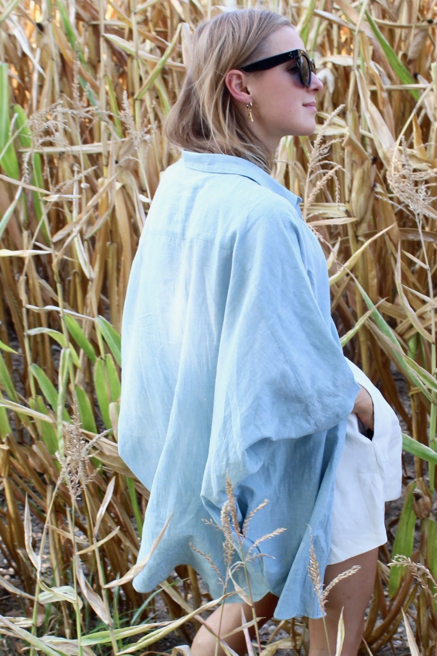 linen shirt the summer house blue