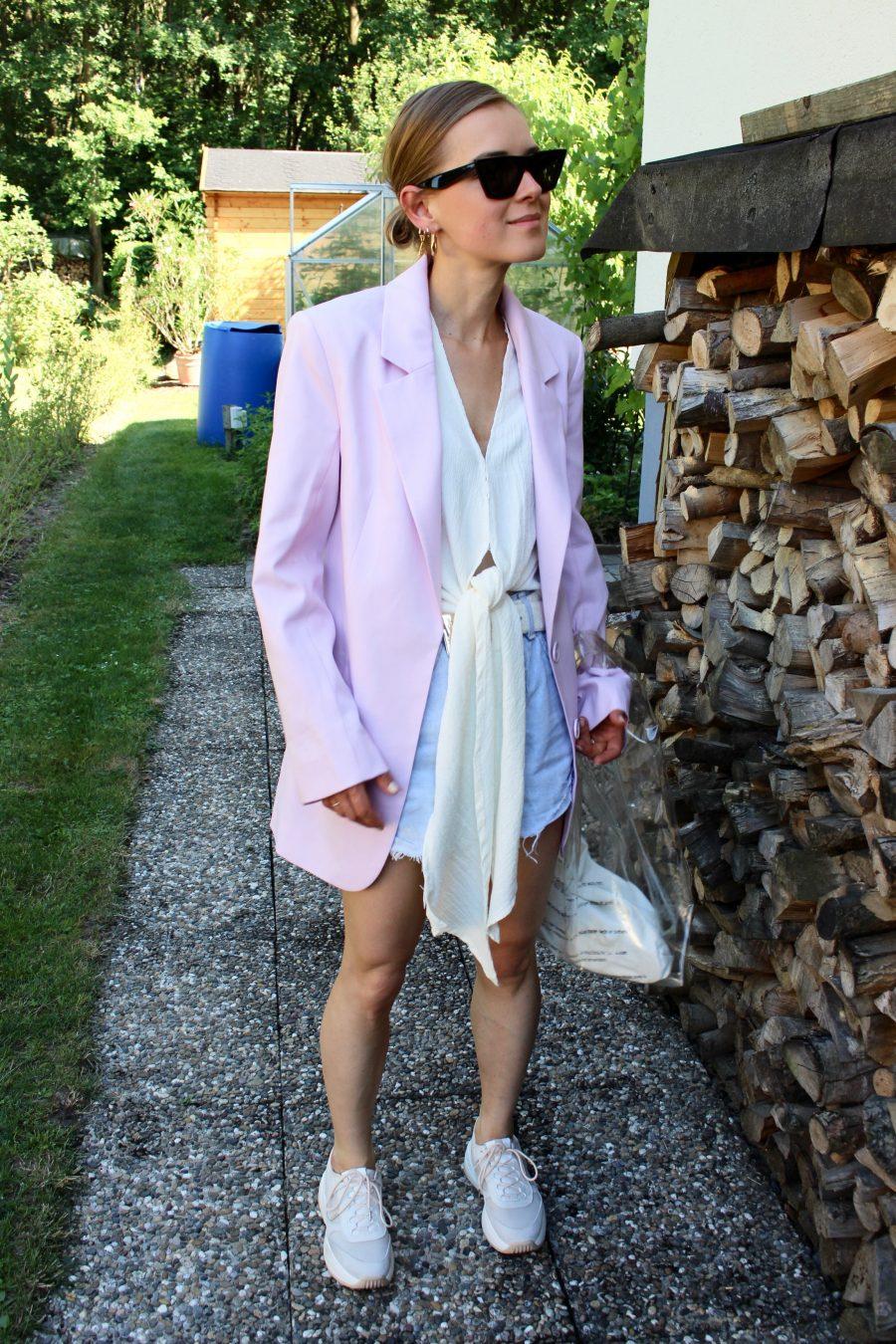 rose blazer H&M Trend
