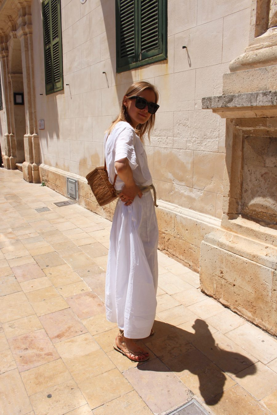 white maxi dress other stories