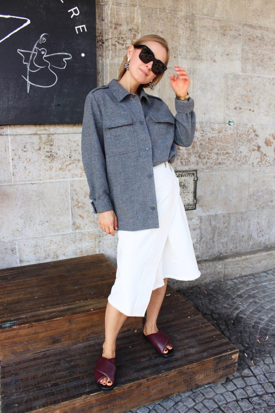 The White Céline Denim Skirt  08.10.2018