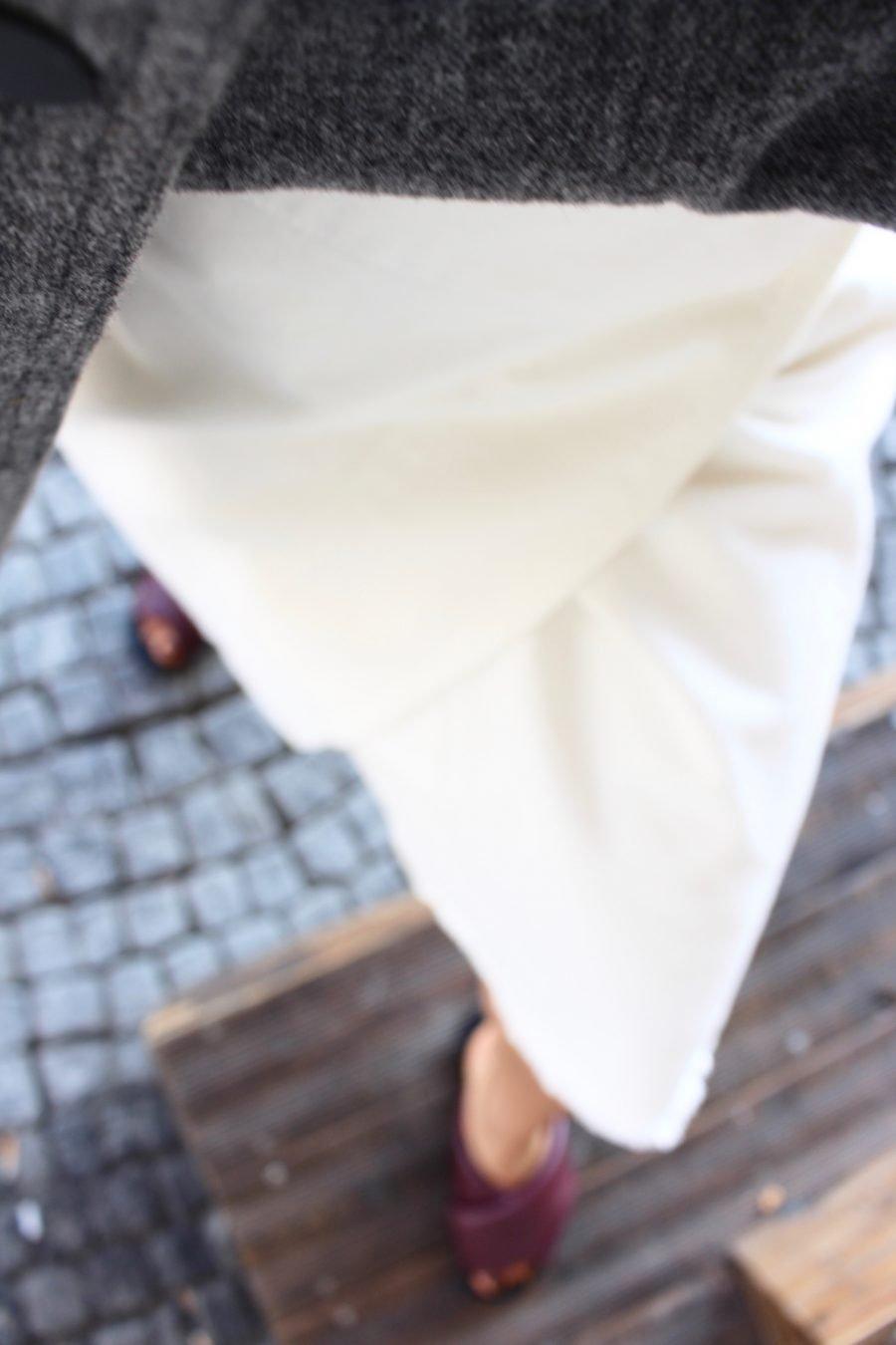denim Céline white skirt