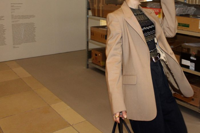 Beige oversized blazer other stories