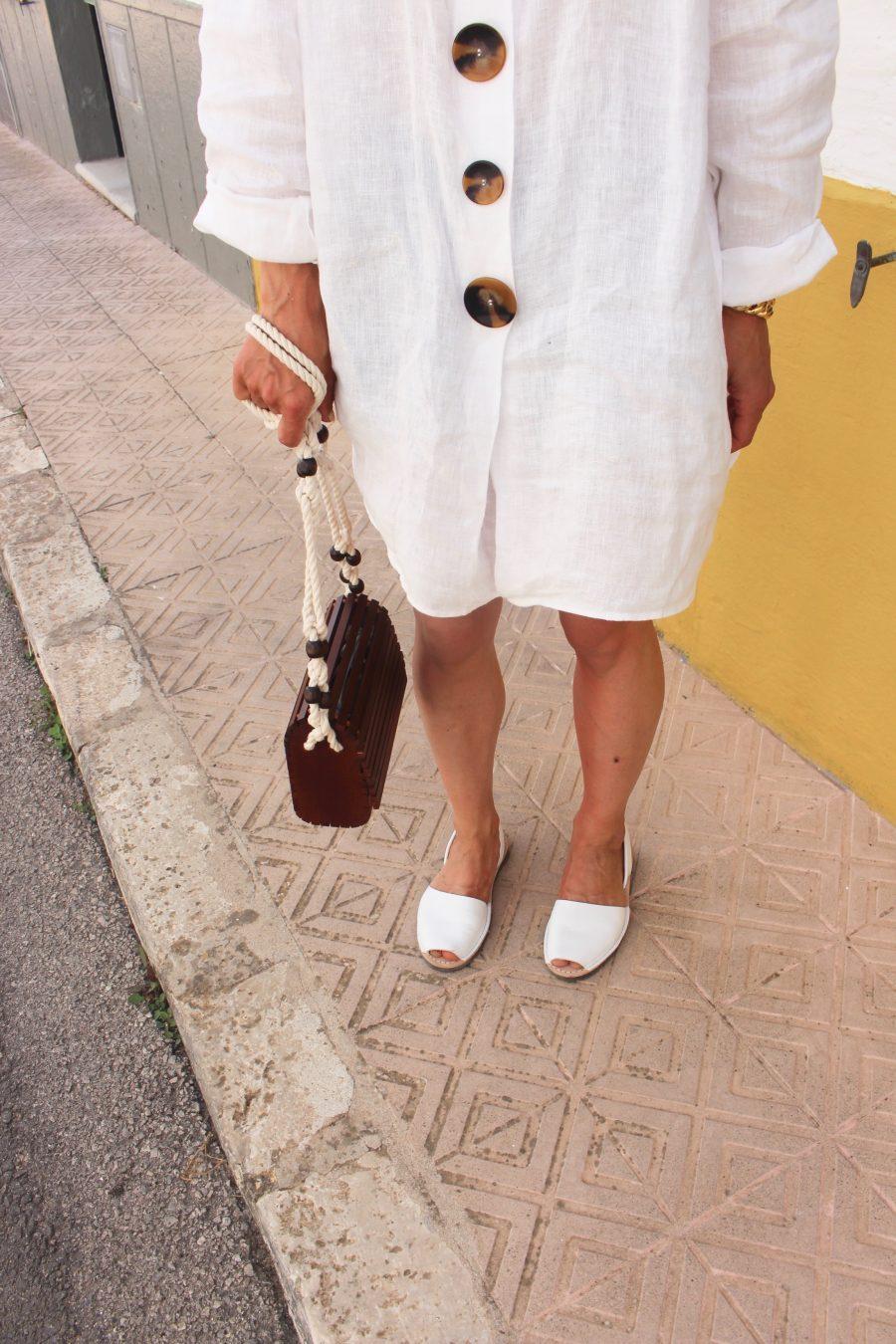 zara white linen tunik