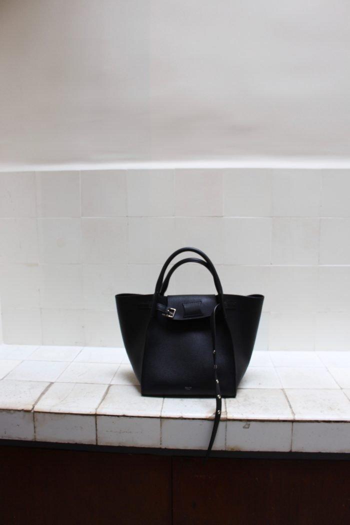 Céline black leather bag