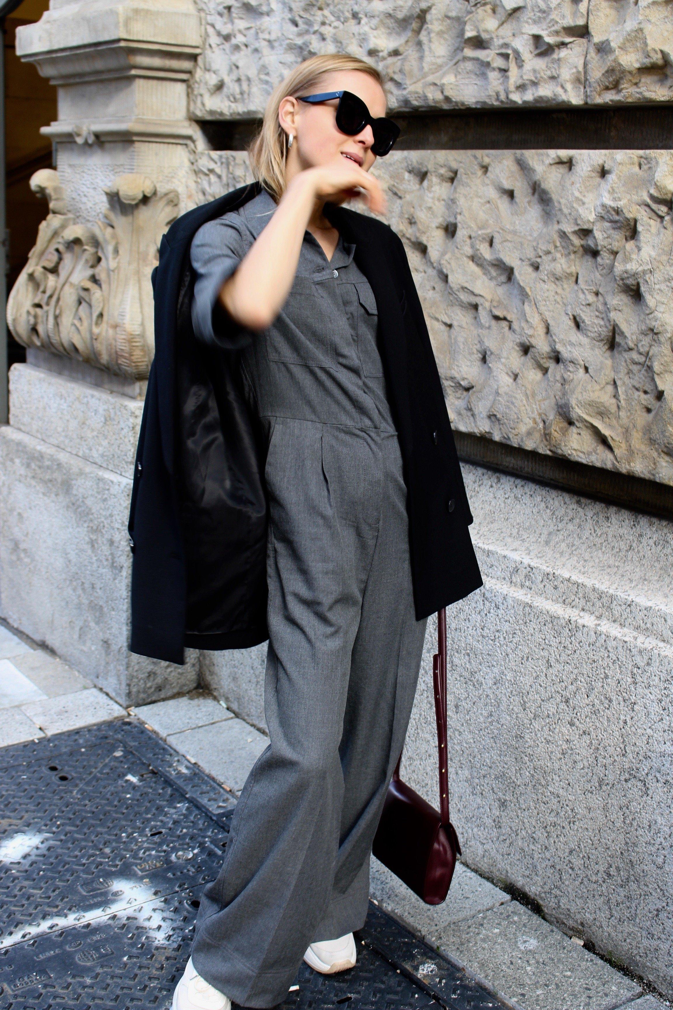 oversized blazer black balenciaga