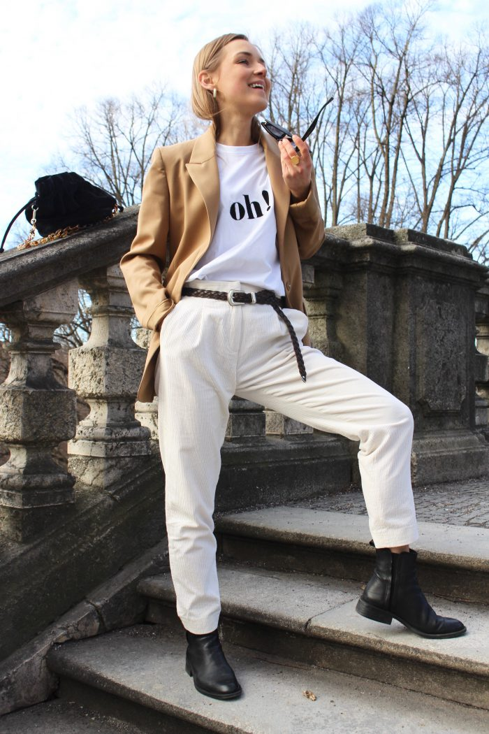beige trousers massimo dutti