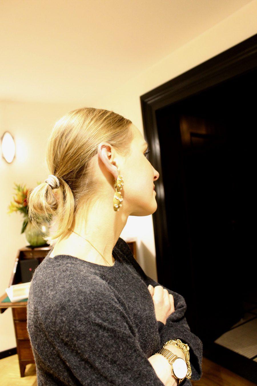 zara earrings gold