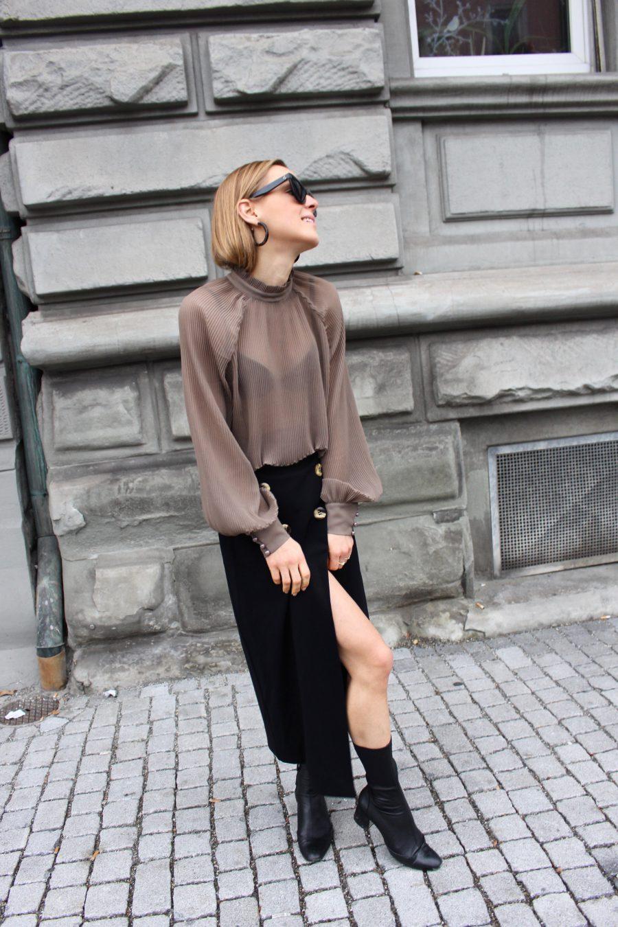 midi skirt black new collection 2018