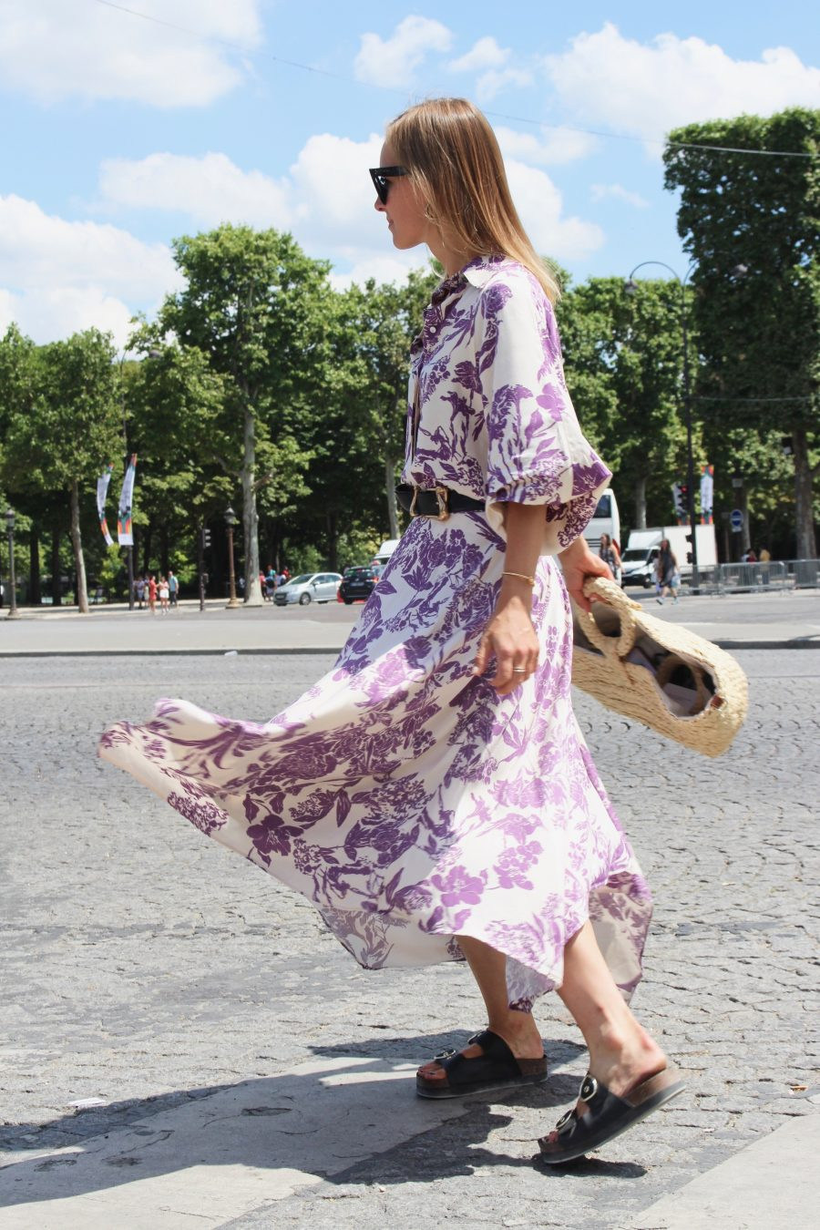 the floral print dress H&M Trend