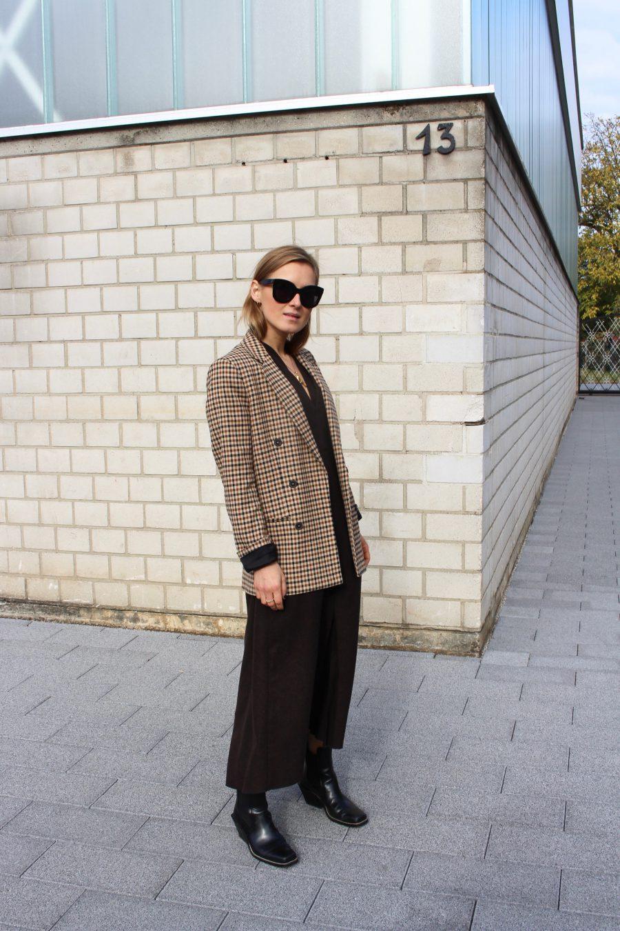 Oversized Blazer Zara Brown