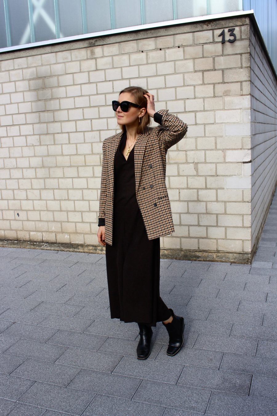 Oversized Blazer Zara Brown