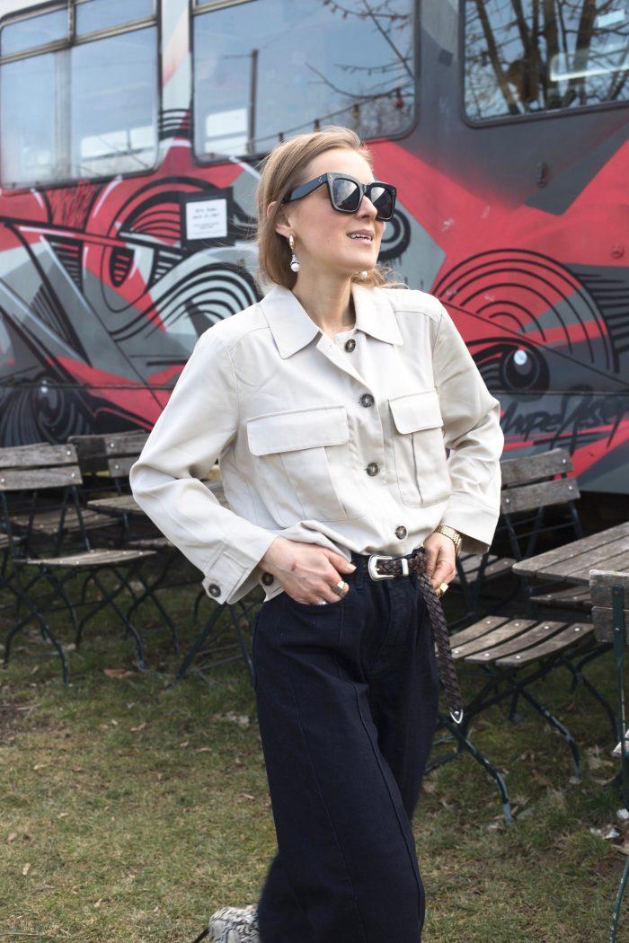 beige jacket women