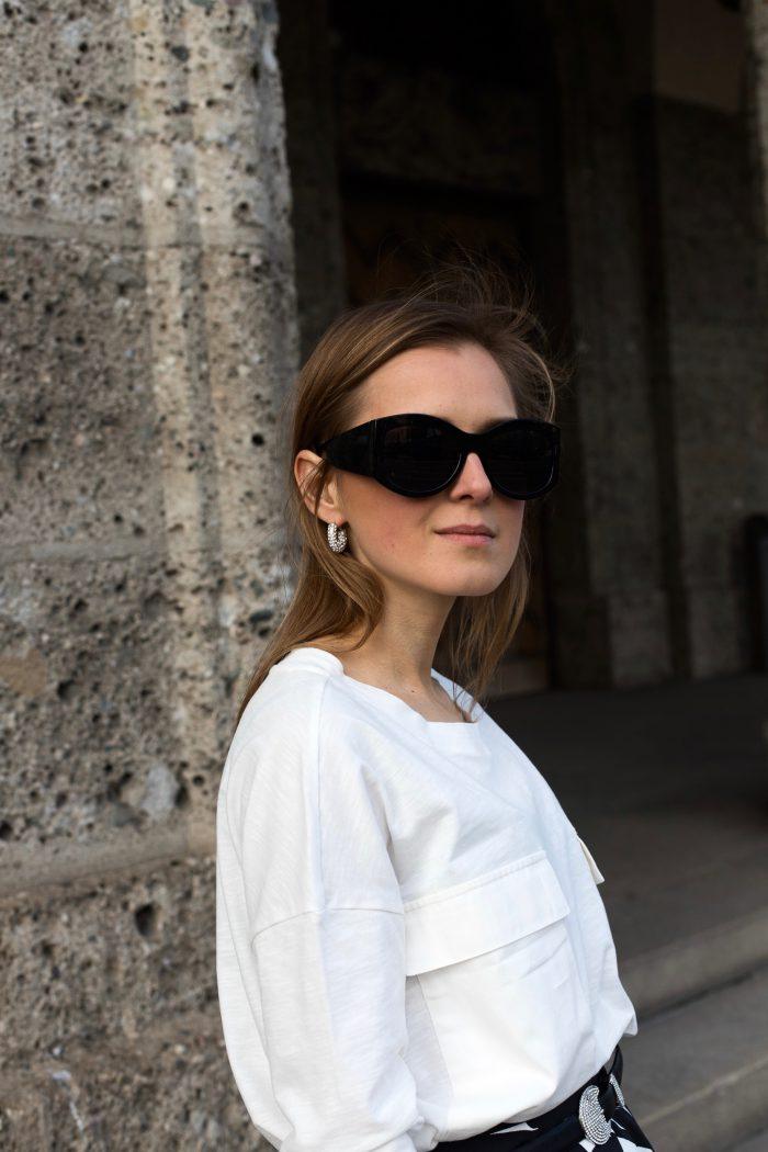 mango sunglasses black