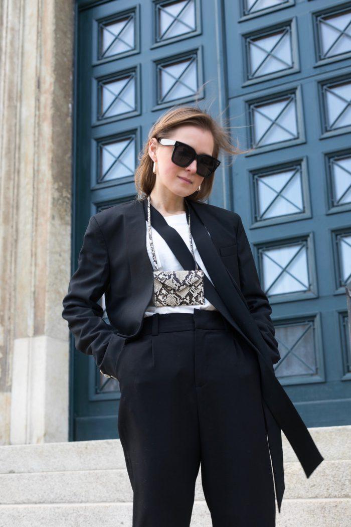 black suit mango blazer