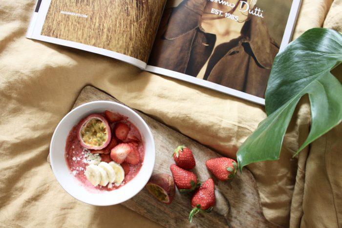 Strawberry Banana Bowl Healthy Breakfast