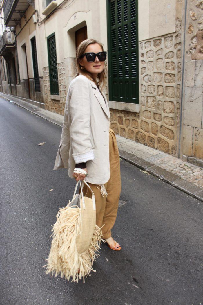 Linen Blazer beige new H&M Collection