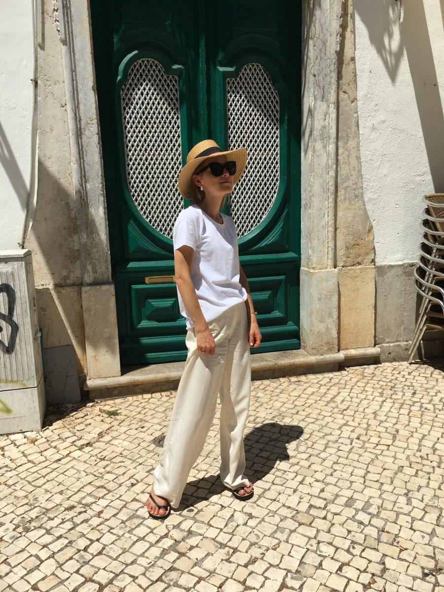H&M Pants white beige summer 2018