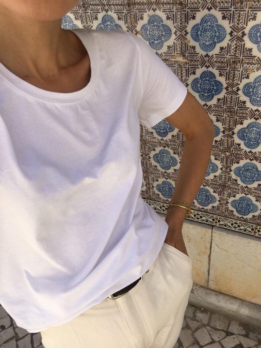 organic basics t shirt white